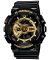 Casio G-Shock Analog/Digital Quartz Watch for Men with Resin Band, Water Resistant, GA-110GB-1A, Black-Gold