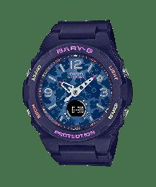 BABY-G BGA-260FL-2ADR Analog-Digital Black Resin Women's Watch