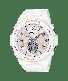 BABY-G BGA-260FL-7ADR Analog-Digital Black Resin Women's Watch